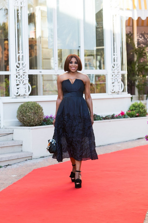 Mo Abudu was recently awarded with the Médailles d'Honneur by MIPTV [ Twitter/MoAbudu]