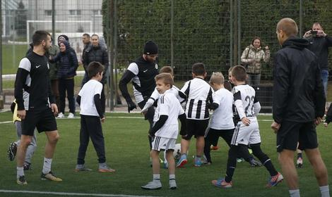 Fudbaleri Partizana i mališani