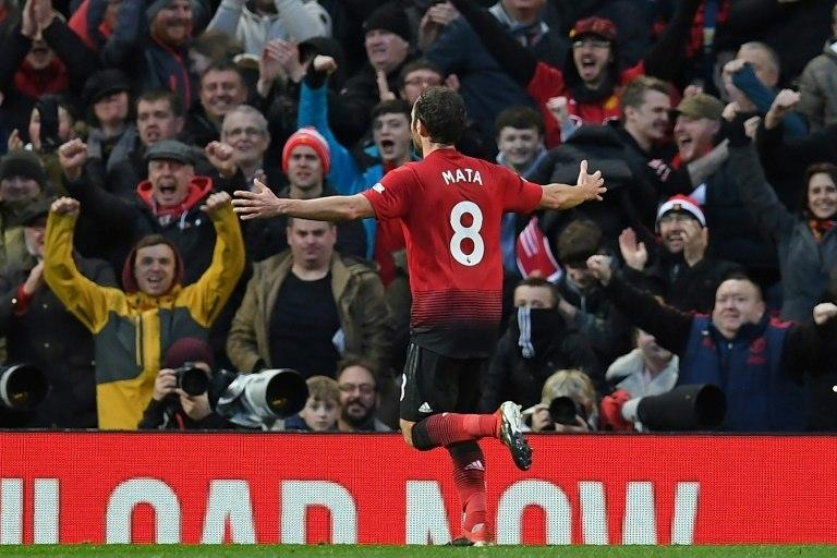 Special Juan: Juan Mata returned to the Man Utd side and scored against Fulham in a 4-1 win