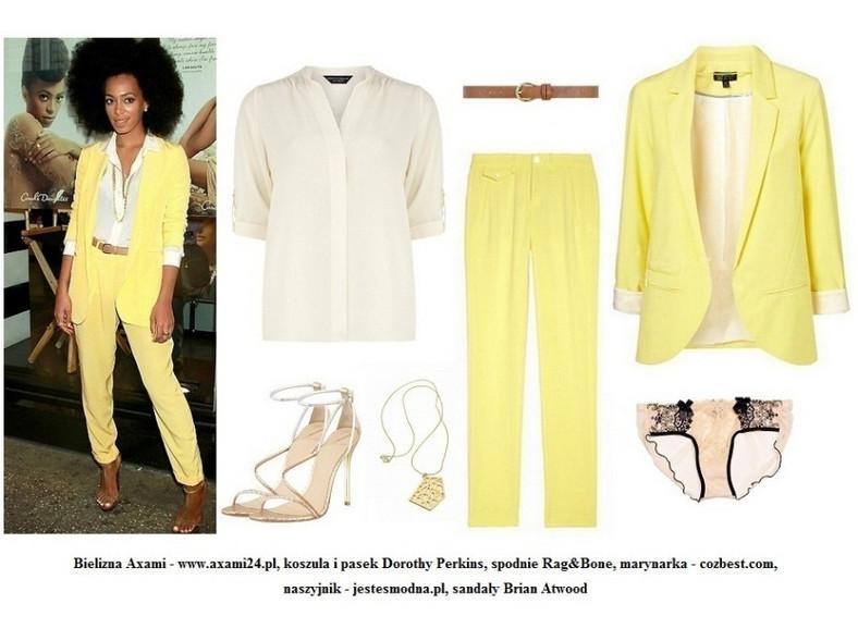 Solange Knowles w modnym spodnium