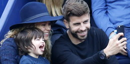 Pique i Shakira na meczu z dzieckiem