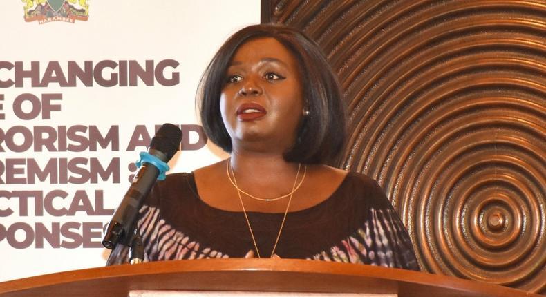 Dagoretti South MP John Kiarie reacts after Foreign Affairs CS Raychelle Omamo mispronounced his name Kiarie