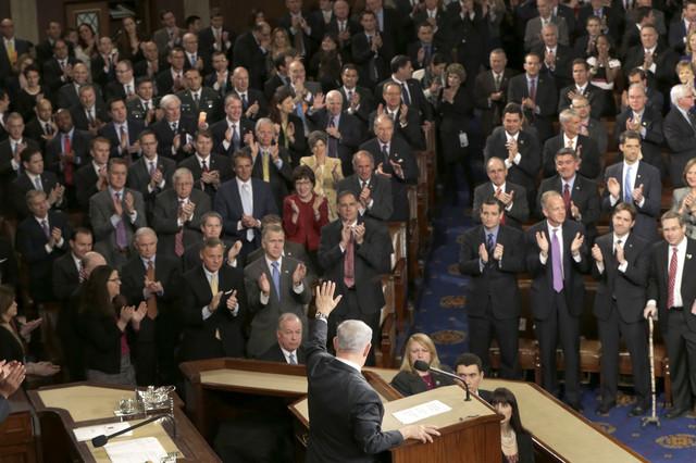 Aplauzi poslanika: Benjamin Netanjahu pred Kongresom SAD