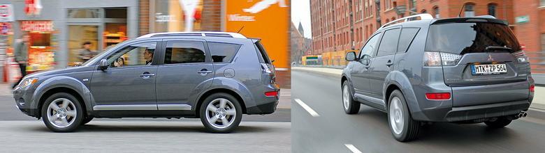 Gabaryty Outlandera lokują go wśród dość dużych SUV-ów. Jest wyraźnie dłuższy niż np. RAV4. Mimo sporych gabarytów parkowanie i manewrowanie w mieście nie są  kłopotliwe.