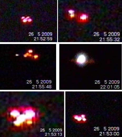 Zmieniające kształty UFO nad Rzeszowem 2009 r.