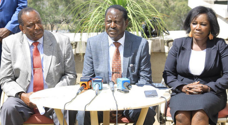 Raila addresses pushing out a section of MPs out of Jubilee Party