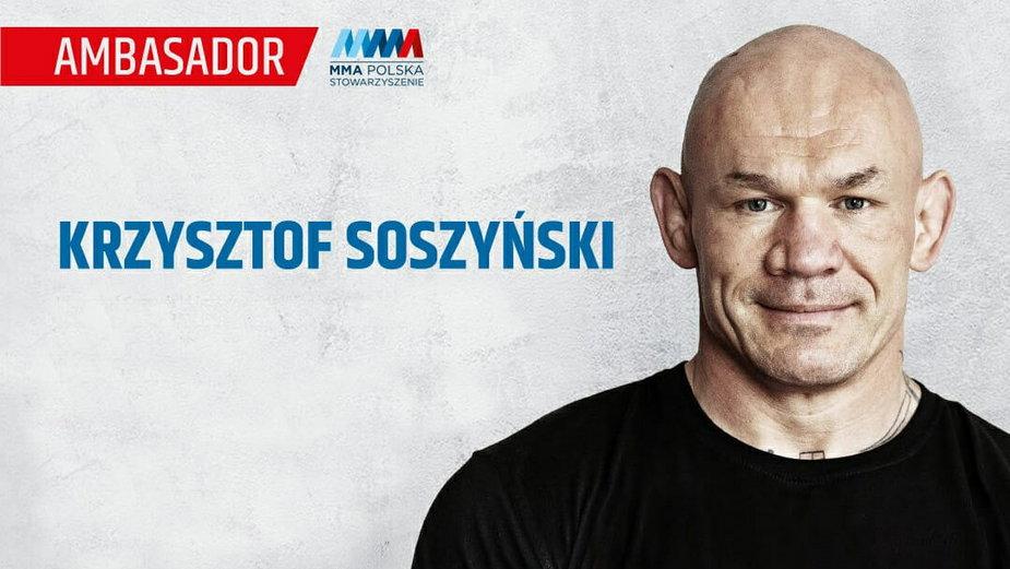 Krzysztof Soszyński ambasadorem Stowarzyszenia MMA Polska