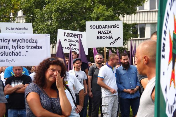 Pokojowy wiec w obronie kopalni Makoszowy przed KWK Makoszowy w Zabrzu.