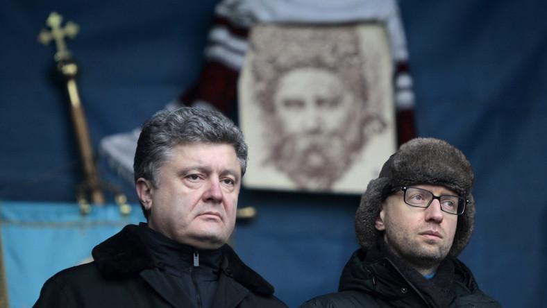 Petro Poroszenko (po lewej) i Arsenij Jaceniuk, nowy premier Ukrainy