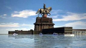 Budowa gigantycznej statui wojownika Śiwadźi w Mumbaju