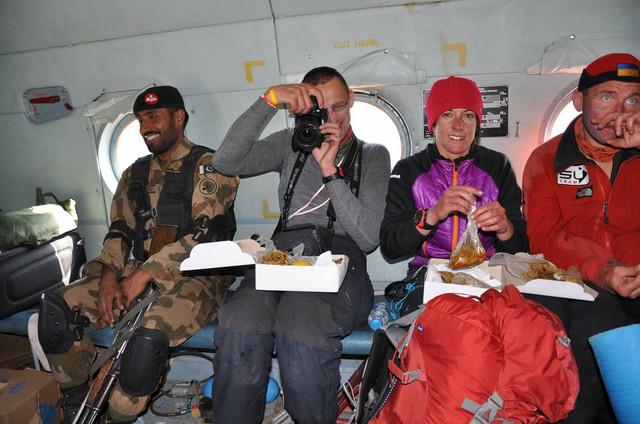 Alpinistička ekspedicija pri povratku sa Himalaja