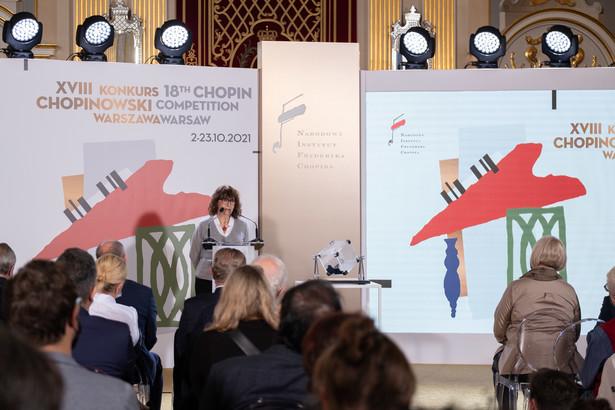 prof. Katarzyna Popowa-Zydroń – przewodnicząca jury XVIII Międzynarodowego Konkursu Pianistycznego im. Fryderyka Chopina