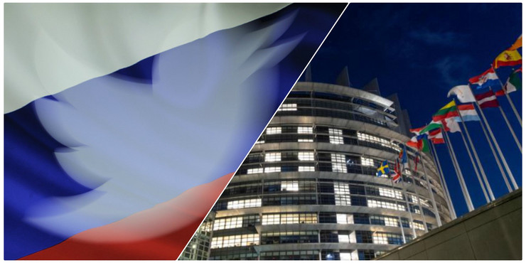 Rusija Tviter Evropski parlament
