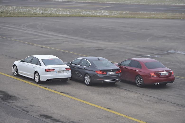 BMW 530d kontra Audi A6 3.0 TDI quattro i Mercedes E 350d