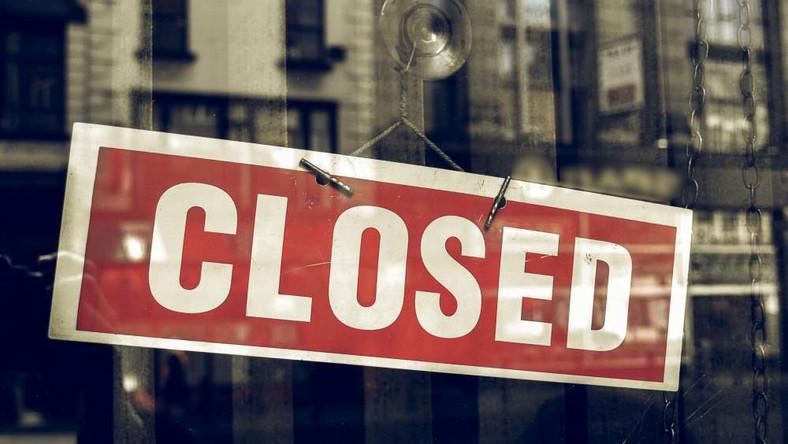 Zakaz handlu zamknięte sklep