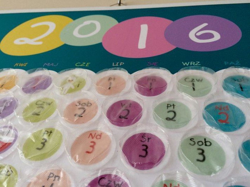 Kalendarz bąbelkowy