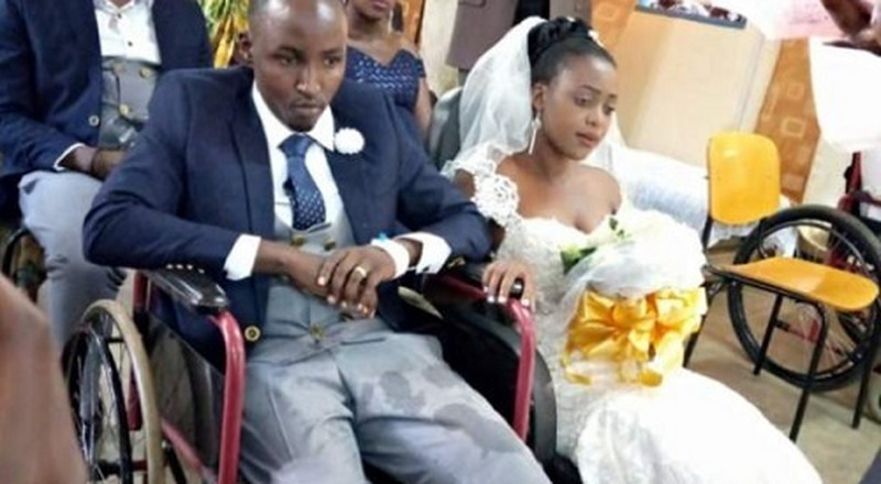 Love till death: Young bride proceeds with her wedding despite groom going cripple
