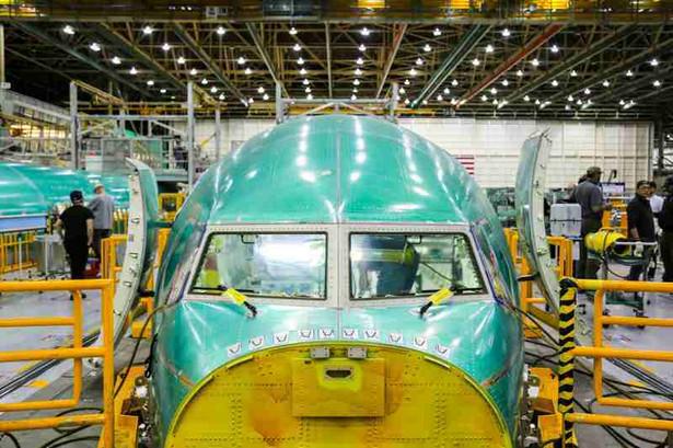 Renton fabryka Boeinga - wygląd kabiny