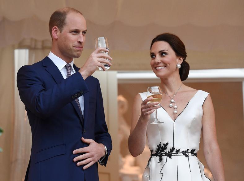 Książę William, księżna Kate na przyjęciu