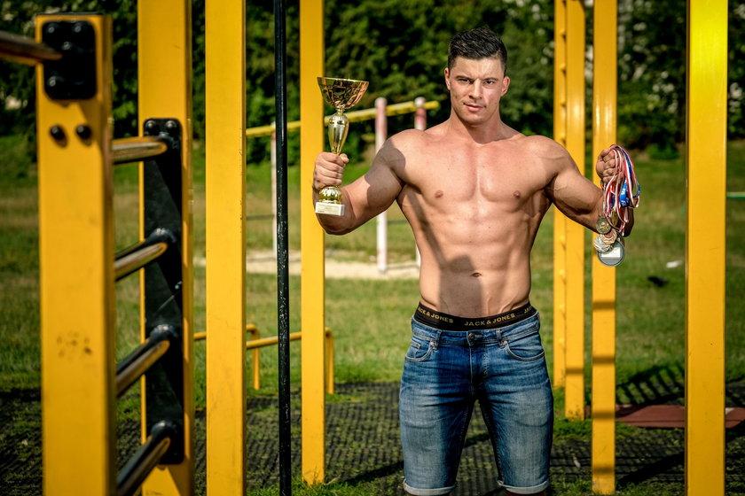 Miroslaw Herba z Tychow chce byc jak Arnold Schwarzenegger. Zdobyl medale w zawodach kulurystycznych