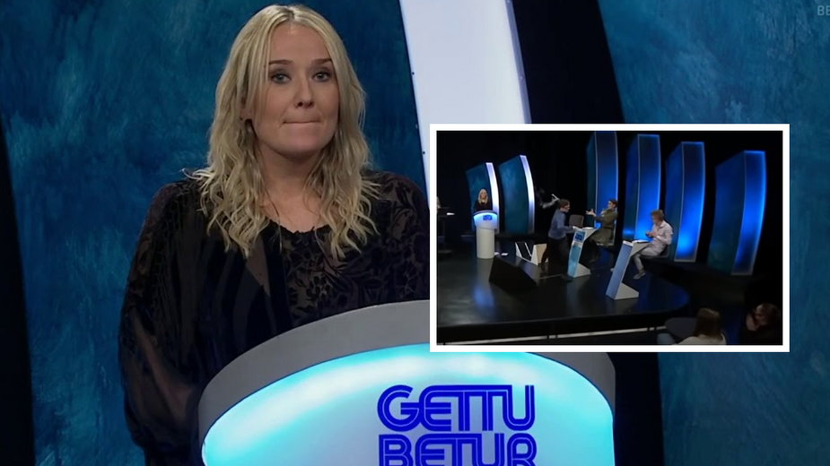 "Kristjana Arnarsdóttir w teleturnieju ""Gettu betur"""