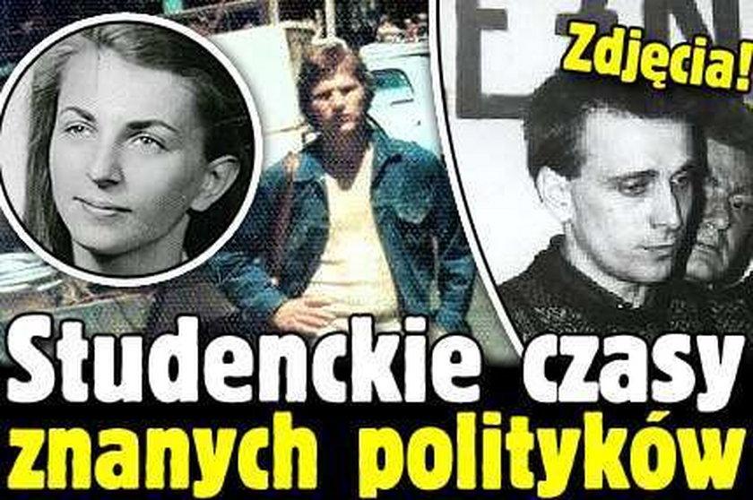 Studenckie czasy znanych polityków. Zdjęcia