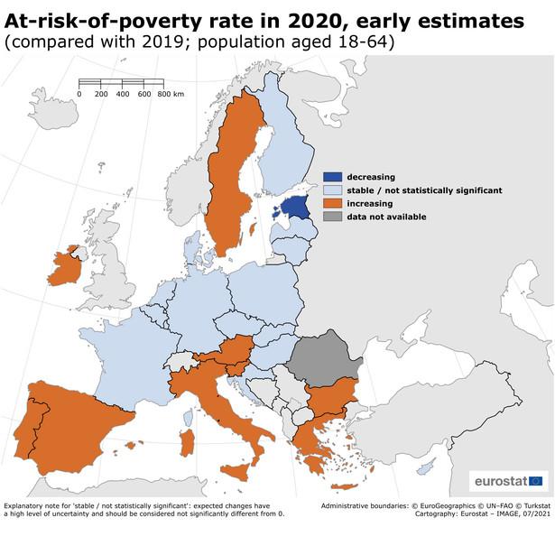 Wzrost wskaźnika zagrożenia ubóstwem