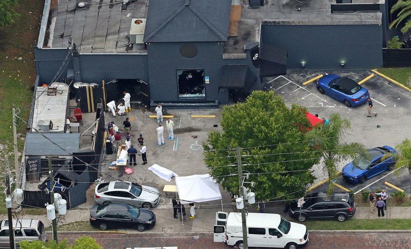 Widok z lotu ptaka na scenę masakry w Pulse Nightclub w Orlando