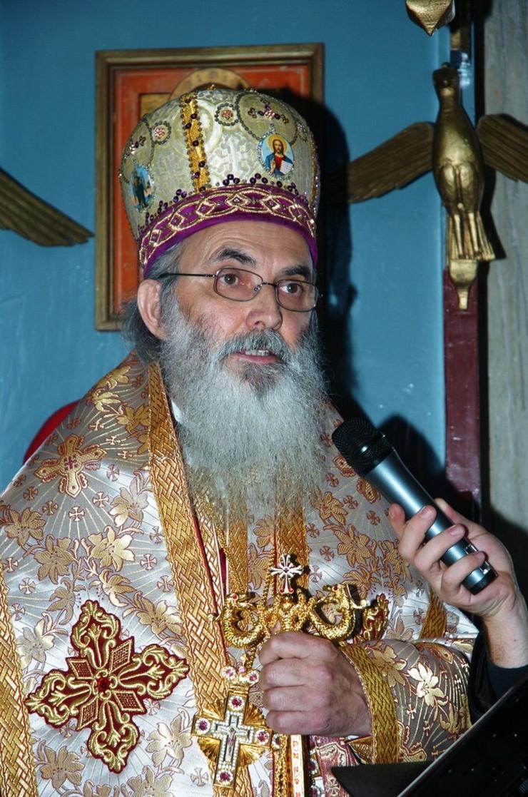 Moleban je održan nakon svete arhijerske liturgije koju je služio episkop Milutin