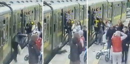 Nastolatkowie napadli na dziewczyny na peronie. Teraz ujawniono nagranie. Mocny FILM