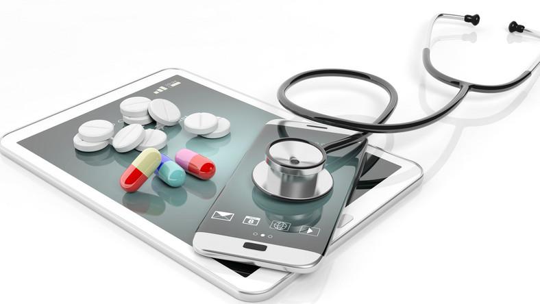 Telefon, leki, stetoskop
