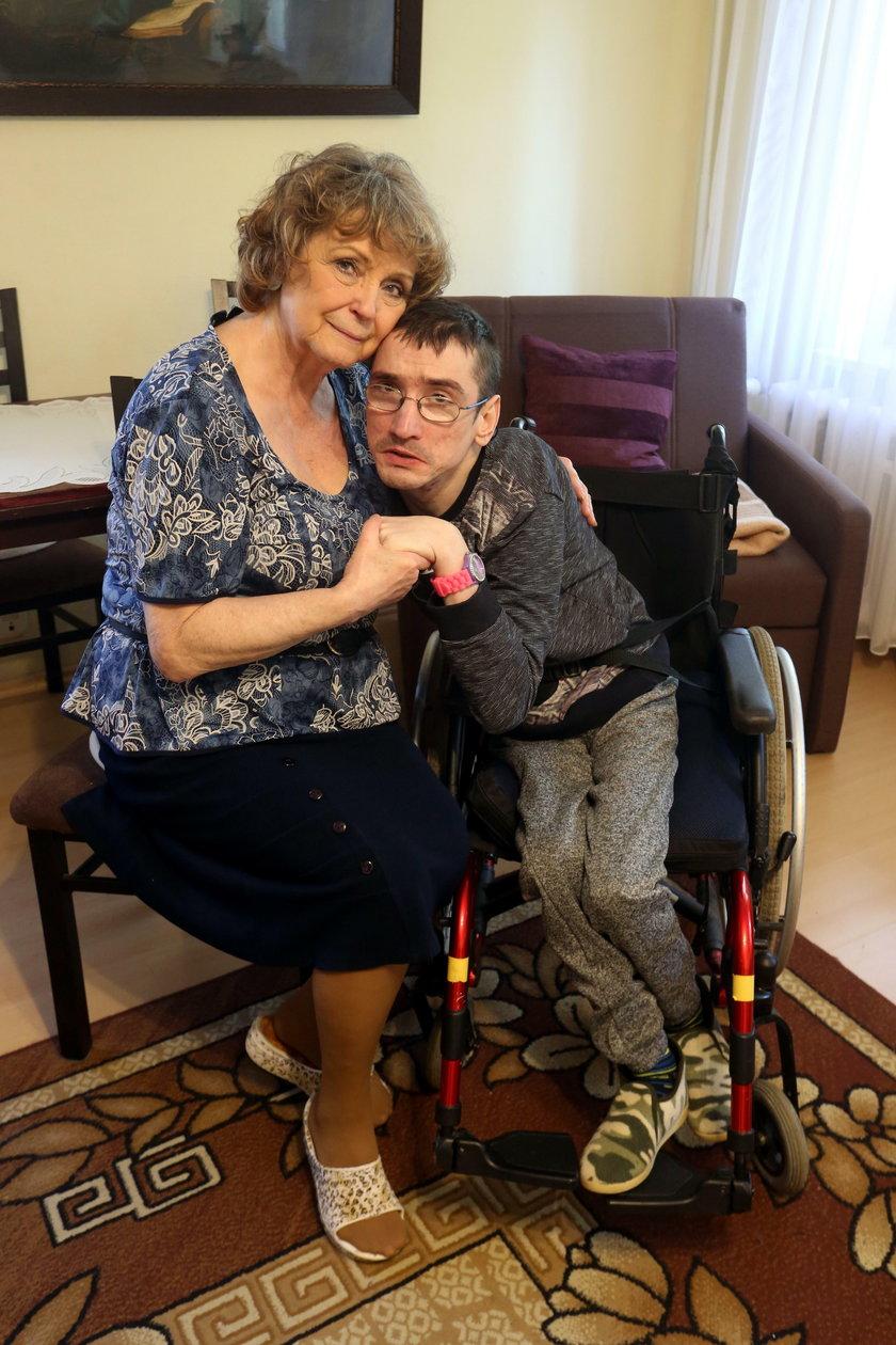 Jadwiga Nowak z wnukiem