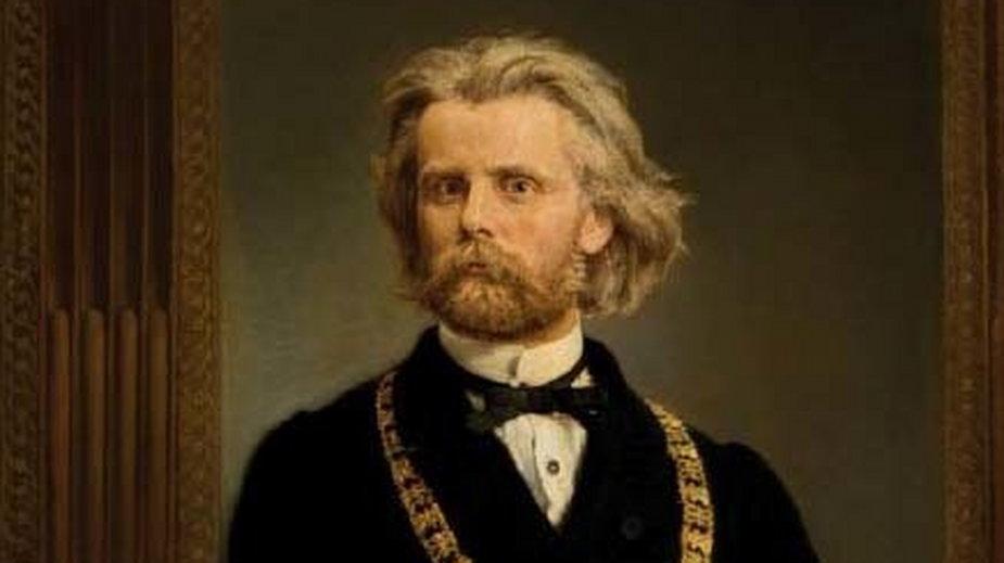 """Jan Matejko - """"Portret prof. dr. Karola Gilewskiego"""" (1872 r.)"""