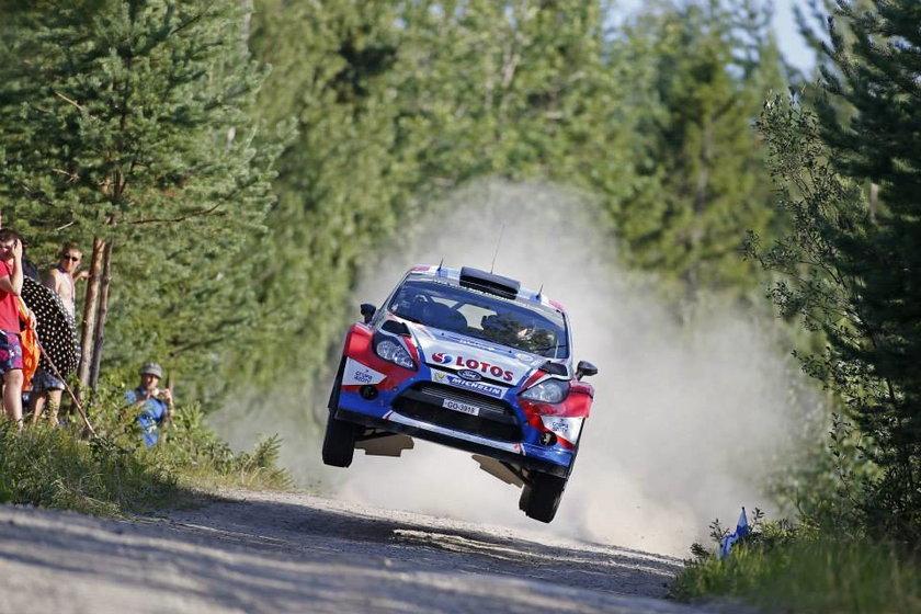 Robert Kubica podczas Rajdu Finlandii