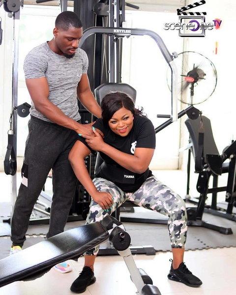 Funke Akindele Bello and Tobi Bakre in season 17 of 'Jenifa's Diary' [Instagram/Jenifa's Diary]