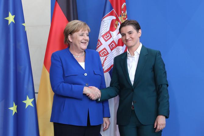 Nemačka kancelarka Angela Merkel i premijerka  Vlade Republike Srbije Ana Brnabić u Berlinu
