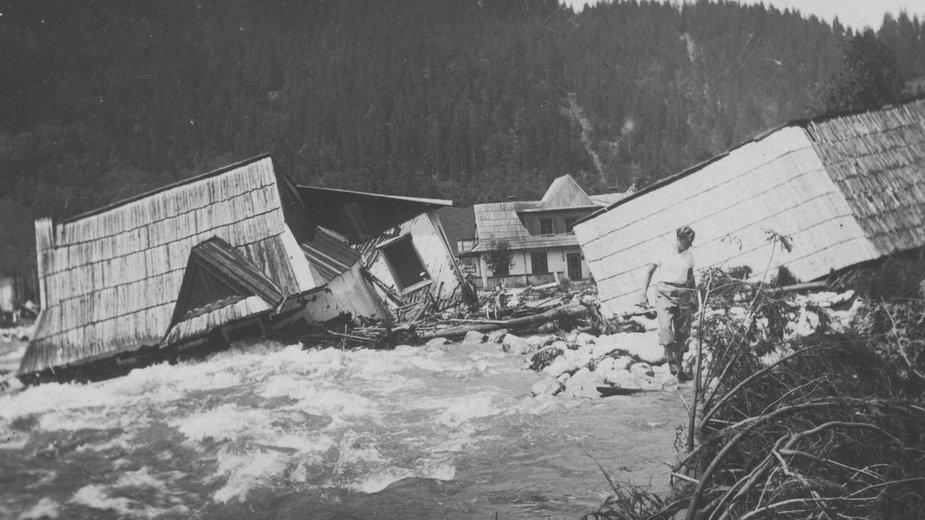 Powódź w Zakopanem, 1934 r.