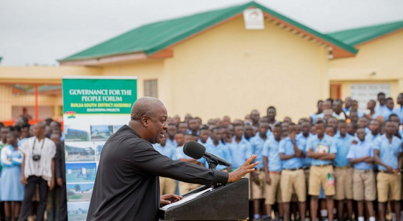 I started Free SHS in 2015 – Mahama makes huge claim