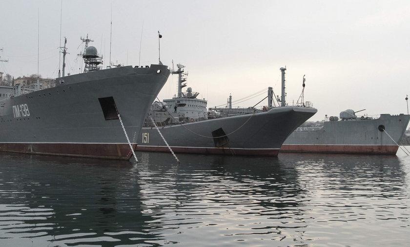 Dwa rosyjskie okręty wpłynęły na wody międzynarodowe Bałtyku