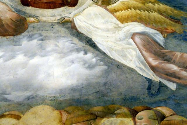 Detalj freske u kojem je vidljiv lik đavola (kliknite na sliku za uvećanje)