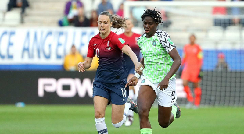 Bad start for Super Falcons as Nigeria lose 3-0 to Norway in their first game of 2019 FIFA Women's World Cup