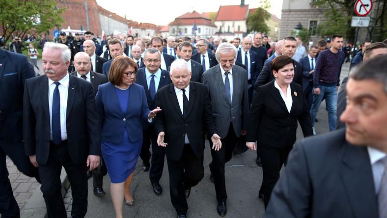 Politycy PiS na Wawelu
