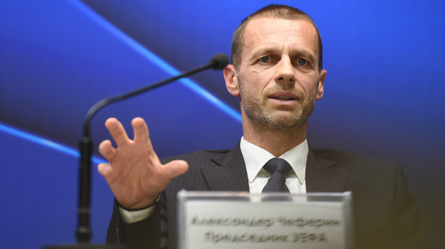 Predsednik UEFA Aleksandar Čeferin