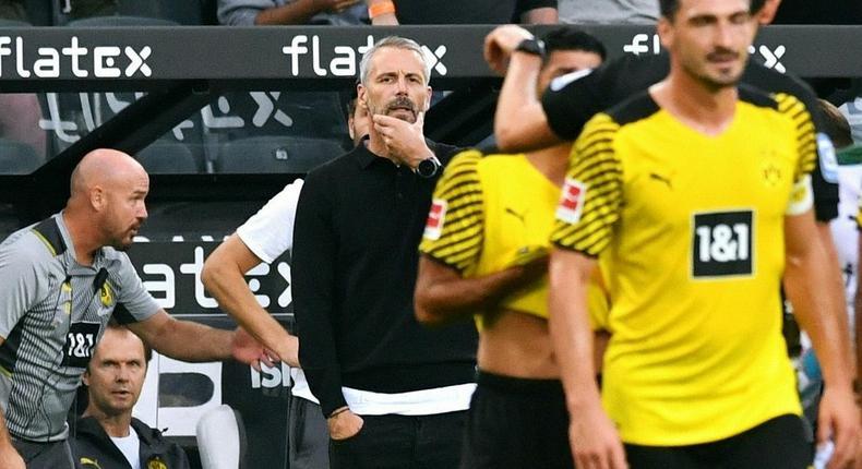 Dortmund coach Marco Rose lost on his return to Moenchengladbach Creator: UWE KRAFT