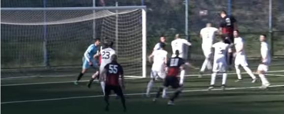 Nikola Milošević postiže pogodak protiv Žarkova