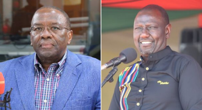 Former Chief Justice Willy Mutunga and Deputy President William Ruto