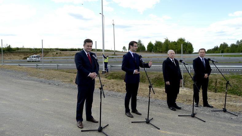 Jarosław Kaczyński, Adam Hofman, Tomasz Poręba, Władysław Ortyl