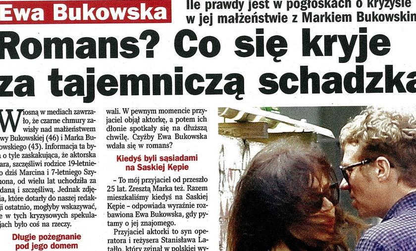 Ewa Bukowska ma romans?