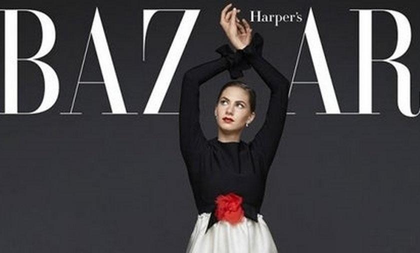 Emma Ferrer na okładce Harper's Bazaar
