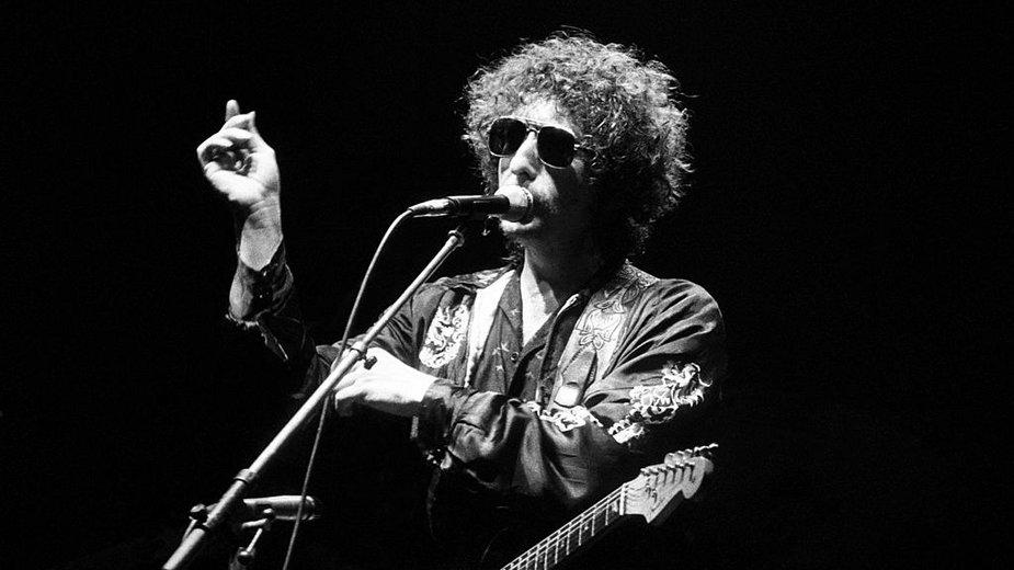 Bob Dylan podczas koncertu (1981)